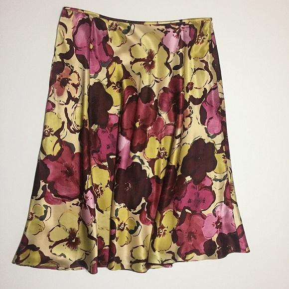 f5c23c3abc Pendleton Skirts | Floral Silk Skirt | Poshmark